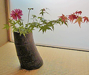 Bamboo flower container